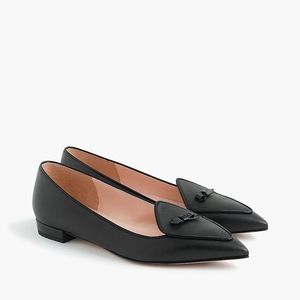 New JCREW Size 9 Black Pointed Toe Loafers